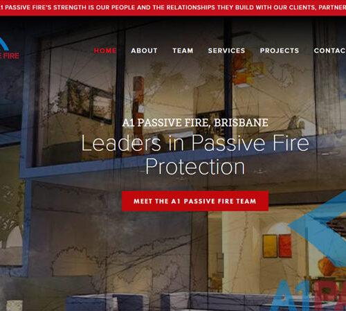 A1 Passive Fire SquareSpace website design