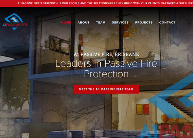 A1 Passive Fire SquareSpace website design